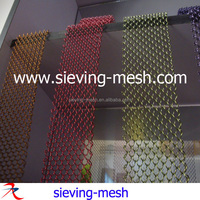 Exporting Silver Color/Black Color Wire Mesh Shower Metal Curtains, Aluminium Alloy Coil Wire Drapery For Room Screens