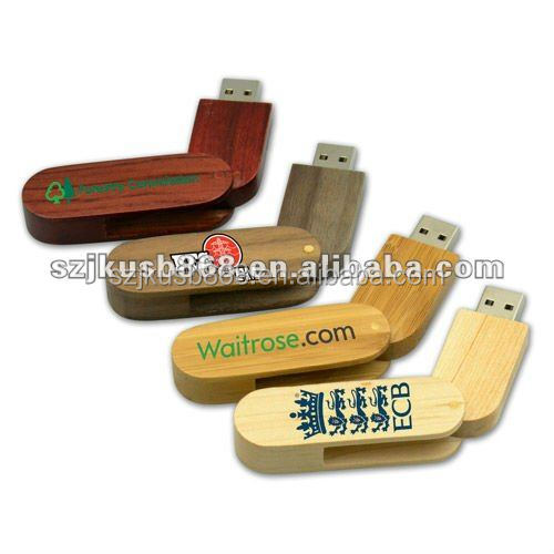 Promotional gift Keychain Wooden Swivel USB Flash Drive with 1GB to 128GB.Wooden USB Flash Memory with custom logo