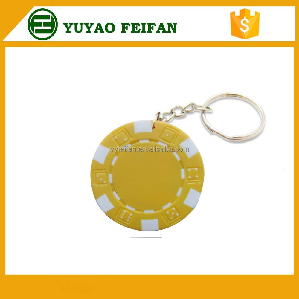 casino souvenir poker chip keyring car key chain customized