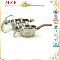 MSF home utensil kinds of kitchen ware classic sauce pan and pot from China