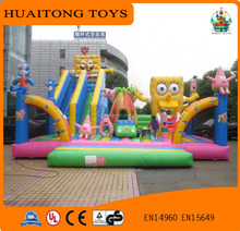 2016 best selling kids outdoor entertainment equipment Big inflatable game inflatable fun city