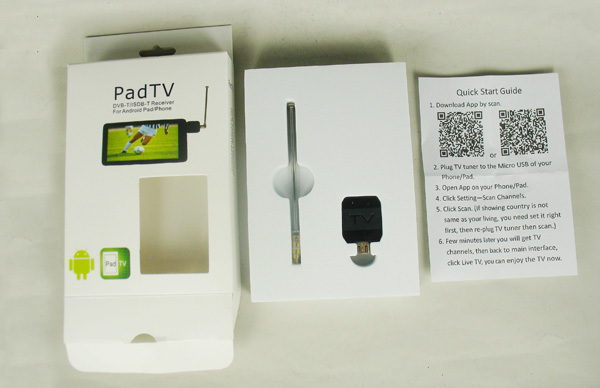 Android DVB-T ISDB-T TV dongle for mobile phone and pad eztv682