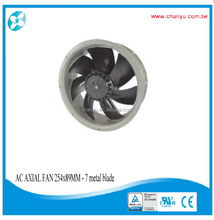 254x89mm-7impeller AC Axial Fan, Metal Impeller