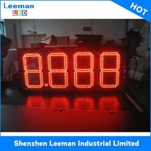 3/ 5/7 digits advertising board gas price / led open front service hot sale display scrolling sign