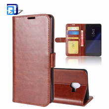 Newest Product 2017 Luxury PU Leather Wallet Case Flip Cover Built-in Card Slots Stand for Samsung Galaxy C10