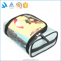 Most popular pu leather makeup train cosmetic bags and cases for girls