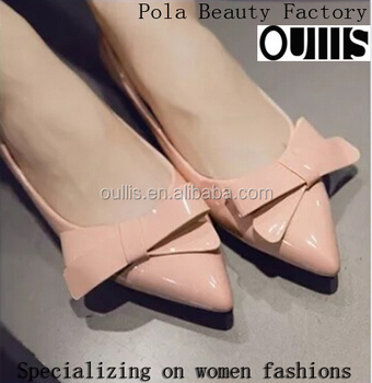 2016 latest fancy design ladies flat shoes CP6916