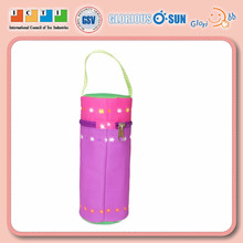 SEDEX high quality perfect design handing nylon milk holder,insulated milk bottle holder,Hiking bottle holder