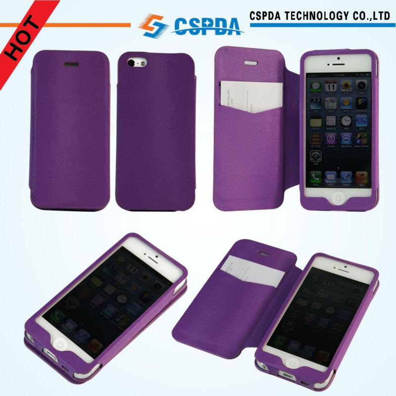 Funda carcasa piel lujosa folio piel pu magn tico para iphone 5 5g 5th bolsas y fundas para - Funda de piel para iphone 5 ...