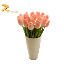 Factory Wholesale High Quality PU Flowers Real Touch Tulip Artificial Flowers For Home Best Popular Decoration