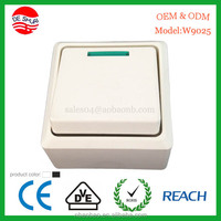 Surface Fireproof Material Electric Door Bell Switch with pilot lamp