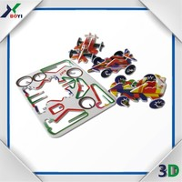 0.01 USD 3D PP puzzle card for snack food promotional gifts
