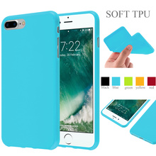 Jelly Glossy Silicone Soft Tpu Phone Case For Apple iPhone 7 Plus Cover Case