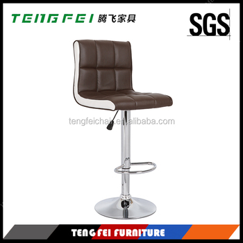 Used Bar stool chair, Certificated SGS gas lift 360 degree swivel,385mm chroming base.