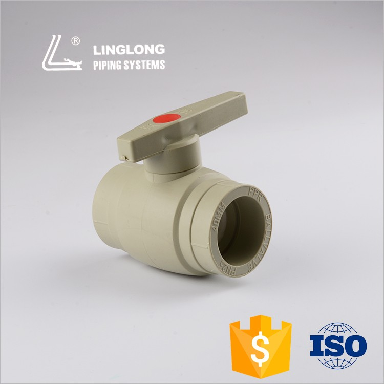 New design hot sale ppr brass ball plastic valve