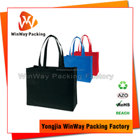 OEM Non Woven Black Tote Bag for Shopping