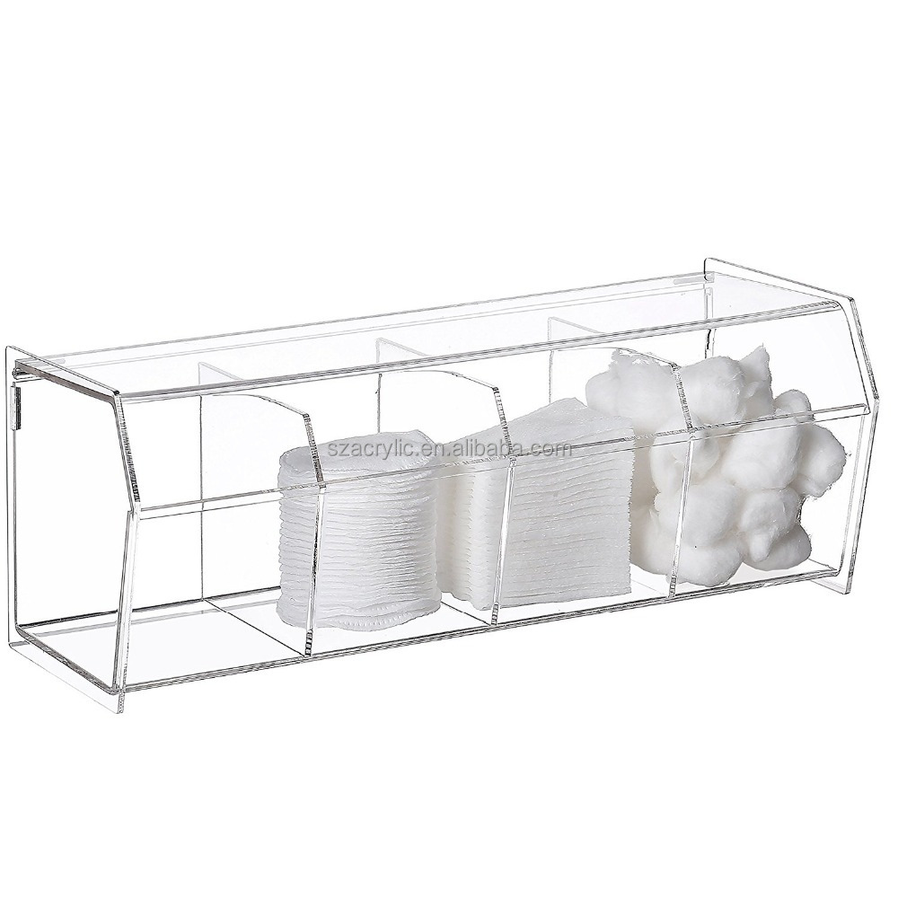 Clear acrylic makeup cotton storage box acrylic holder
