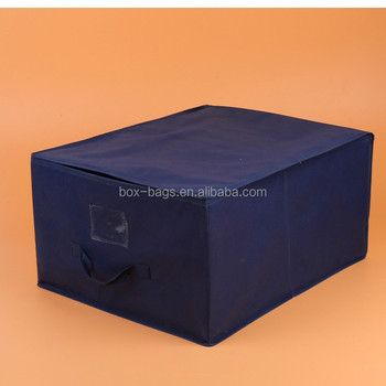 Home organization foldable non woven storage box with lid