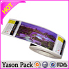 Transparent customized printed adhesive stickers on roll