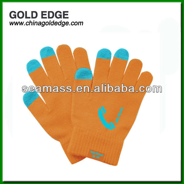 Bluetooth gloves for iphone 5s gold
