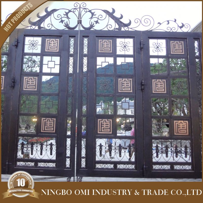ornamental iron work / wrought metal gate design / steel main gate