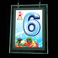 A4 portrait Acrylic Material Light Panel Double Sides LED Hang Lightbox