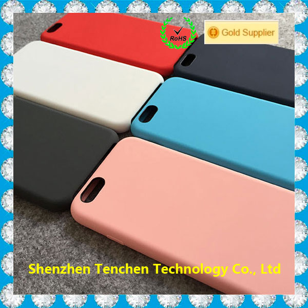 100% Original Offical Silicon Case For Apple IPhone 6,Silicone phone Case Cover for IPhone 6 Plus