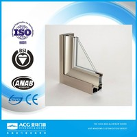 Electrophoretic aluminum profiles for making window and door