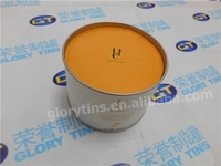 round cardboard cosmetic tin box, paper tube packing
