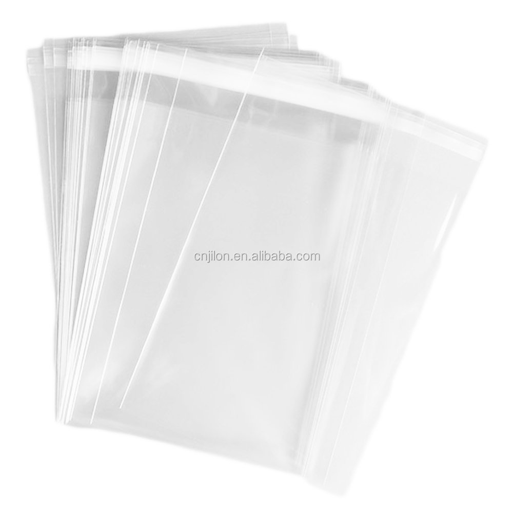 Generic Flat Cellophane Bags with Adhesive Closure /self-sealing clear cellophane bags