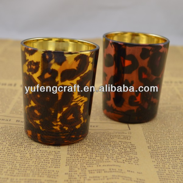 glass candle containers hand made glass candle holder decorative artifacts