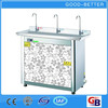2014 Hot selling bending tube three taps hot water dispenser for school