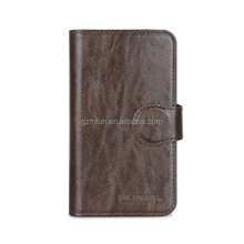 luxury business easy carring brown pu leather flip universal mobile phone case ,4-4.5 inch universal cell cover