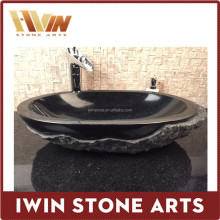 China manufacturer wholesale black marble washing basin,stone sink,stone basin