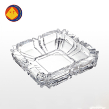China supplier 10 oz square ribbed glass ash tray