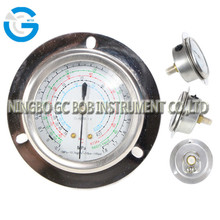 High quality stainless steel brass internal refrigerant manifold pressure gauges