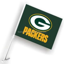 Factory direct price Green Bay Packers Car Flag from China manufacturer