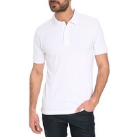 straight cut plain white color polo shirt