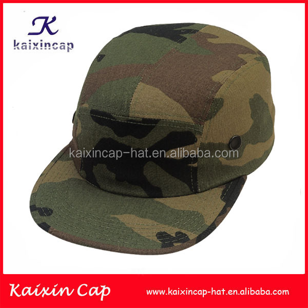 custom made 2016 camo blank 5 panel military hats