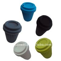 New design silicone coffee cup with lid