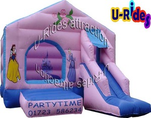cheap inflatable bouncer castle with slide jumping castle bounce house for kids and adults