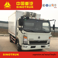 Refrigerator truck and Frozen food trucks for sale in china with truck tire available