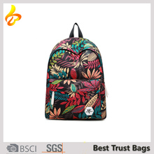 Outdoor Full Printing Soft Backpack Type Simple 20L Canvas Daily Leisure Backpack