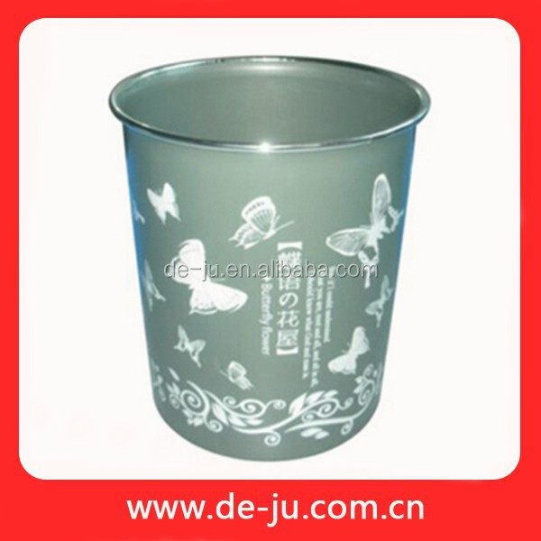 Flower Printing Indoor Plastic Small Office Dustbin