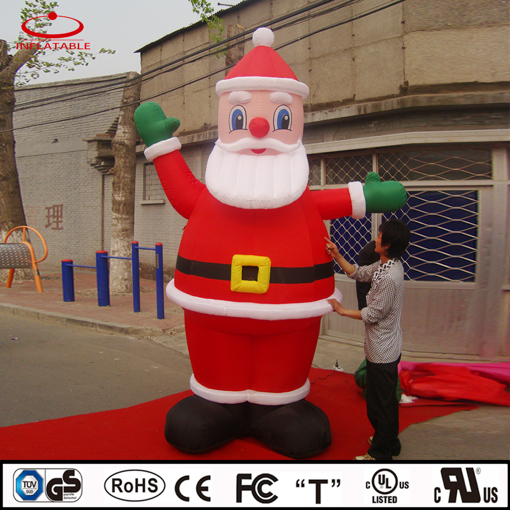 inflatable outdoor christmas decoration, inflatable santa claus character