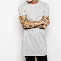 Long Oversized T shirt Wholesale Custom Design Cotton Men's T Shirt