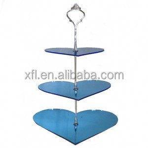 Unique Design Plexiglass Cake Stand, 3-Layer Cake Stand, Fancy Wedding Cake Stand