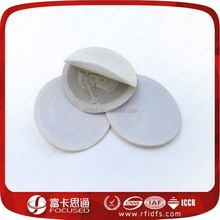 ISO14443 13.56Mhz adhesive rfid coin tag