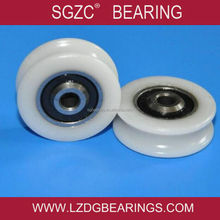 Customized small rubber wheel bearing plastic coated bearing use for sliding door roller bearing 625 626 606 608