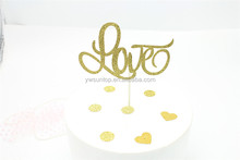 Fancy Love Style Glitter Cake Topper Baby Shower Birthday Cake Topper